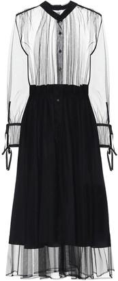 Noir Kei Ninomiya Nylon tulle midi dress