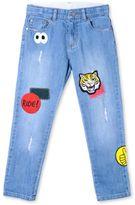 Stella McCartney denim dandy badges jeans