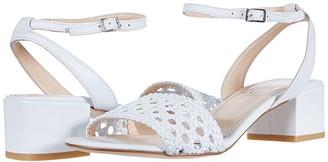 AGL Woven Strap Sandal (White) Women's Shoes