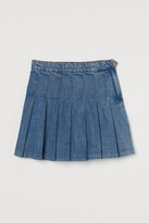 Thumbnail for your product : H&M Pleated denim skirt