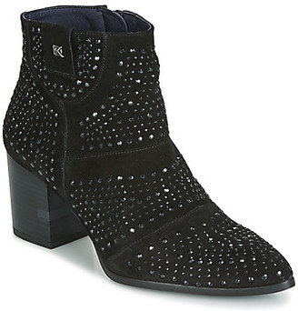 Dorking LESLY women's Low Ankle Boots in Black