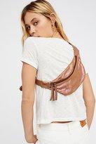 Free People Iridescent Leather Pocket Belt