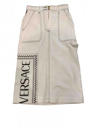 Versace White Denim - Jeans Skirt for Women