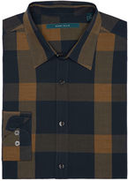 Perry Ellis Roll-Up Sleeve Plaid Shirt