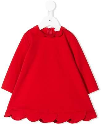 Il Gufo scalloped hem dress