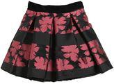 Miss Blumarine Floral Brocade & Organza Skirt