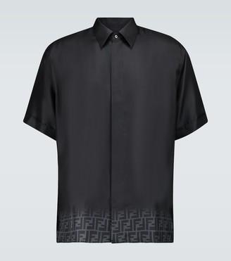 Fendi FF degrade silk shirt