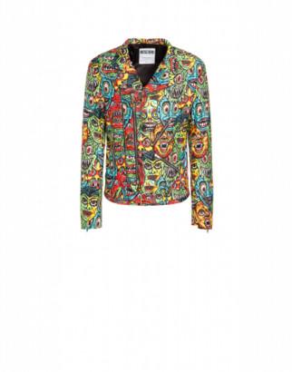 Moschino Monsters Nylon Jacket Man Multicoloured Size 48 It - (38 Us)