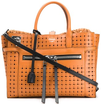 Zadig & Voltaire Perforated Large Leather Tote Bag