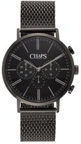 Chaps Men's Dunham Stainless Steel Mesh Chronograph Watch