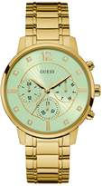 GUESS Women's Gold-Tone and Green Classic Watch