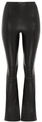 Commando High-Rise Faux Leather Flared Legging
