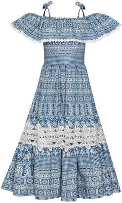 Mia Belle Girls Boho Off The Shoulder Maxi Dress