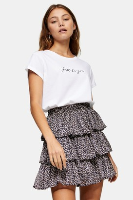 Topshop Womens Just Be You T-Shirt In White - White
