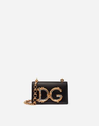 Dolce & Gabbana Girls Mini Bag In Smooth Calfskin