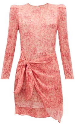 Adriana Degreas Hydrangea-print Tiered Sun Dress - Pink Print