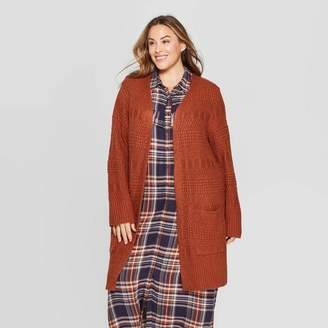 Universal Thread Women's Plus Size Long Sleeve Open Layering Textured Duster Cardigan - Universal ThreadTM