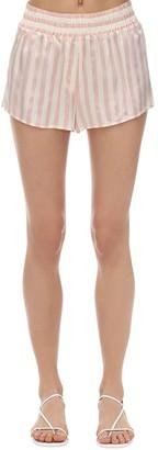 Morgan Lane Striped Silk Charmeuse Pajama Shorts