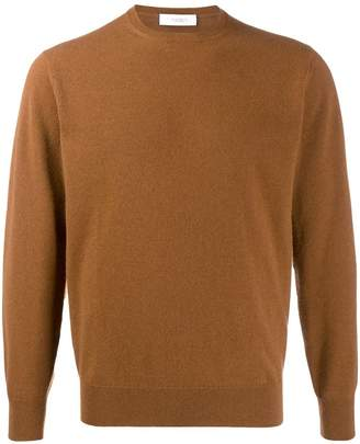 Cruciani long sleeve ribbed knit sweater