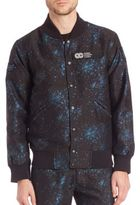 Opening Ceremony Speckle Metallic Varsity Jacket