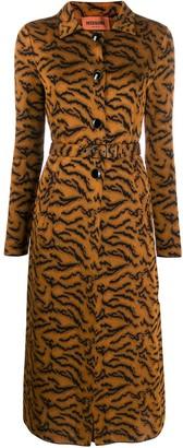 Missoni Animal-Print Belted Coat