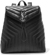 Saint Laurent Loulou Quilted Leather Backpack - Black