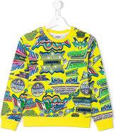 Moschino Kids - multi logo sweatshirt - kids - Cotton - 10 yrs