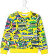 Moschino Kids - multi logo sweatshirt - kids - Cotton - 8 yrs