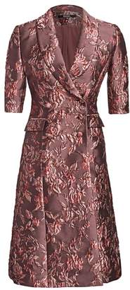 Badgley Mischka Jacquard Flared Jacket Dress