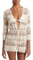 Melissa Odabash Crocheted Lace Coverup