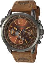 Timberland Men's 'CAMPTON' Quartz Stainless Steel and Leather Dress Watch, Color: (Model: TBL13910JSU12)