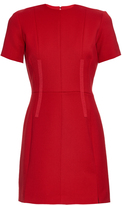 Carven Short-sleeved wool-twill mini dress