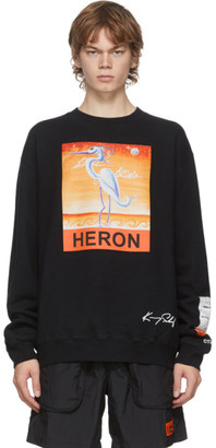 Heron Preston Black Kenny Scharf Edition Heron Sweatshirt