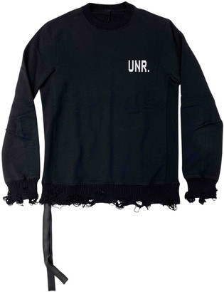 Unravel Project Black Cotton Knitwear & Sweatshirts