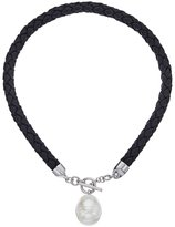 Majorica Women's Braided Leather Tog Necklace Necklace