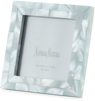 """Mother of Pearl The Jws Collections Mother-of-Pearl Picture Frame, Blue, 3.5"""" x 3.5"""""""