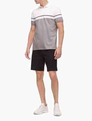 Calvin Klein Liquid Touch Colorblock Stripe Polo Shirt