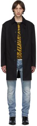 Saint Laurent Black Mac Trench Coat