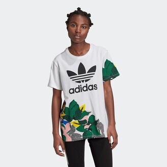 adidas Cotton Crew-Neck T-Shirt with Short Sleeves