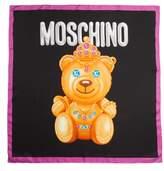 Moschino Bear Print Silk Scarf