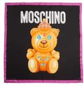 Moschino Women's Bear Print Silk Scarf