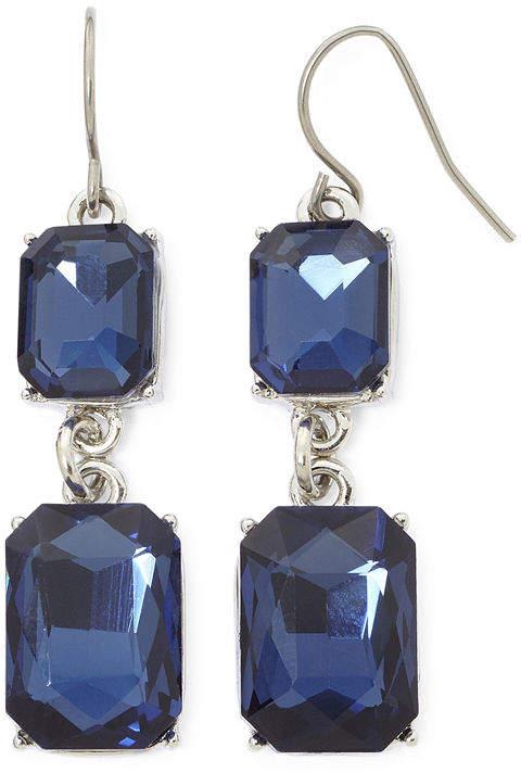 11198e0359b9b8 Double Drop Blue Earrings - ShopStyle