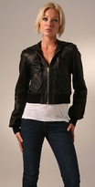 Hugh Leather Hoodie