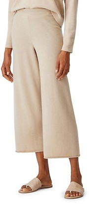 Eileen Fisher Cashmere Cropped Wide-Leg Pants