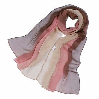 KAVINGKALY Long Chiffon Sheer Silk Scarves Shade Colors Scarf for Women Lightweight Long Wrap Shawls(Navy Blue and Green)