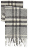 Burberry Kid's Check Cashmere Scarf, Gray