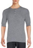 Vince Three Button Crewneck Shirt