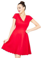 Betsey Johnson Sweet Scallop Edge Dress