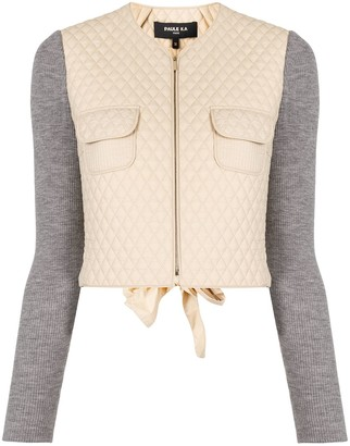 Paule Ka Diamond-Quilted Cropped Jacket