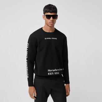 Burberry Location Wool Blend Jacquard Sweater